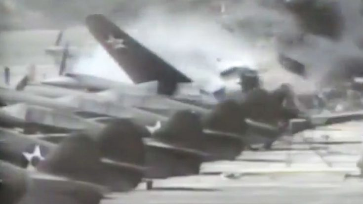 Out Of Control P-40 Crashes Into Rows Of P-40s-Total Destruction | World War Wings Videos