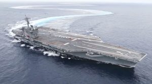 After Overhaul, USS Abraham Lincoln Does Some Extreme Rudder Tests