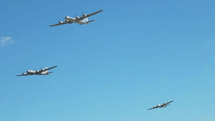 The Only 2 Airworthy B-29s Finally In The Air Together-Lead By B-1,B-2 And B-52 | World War Wings Videos