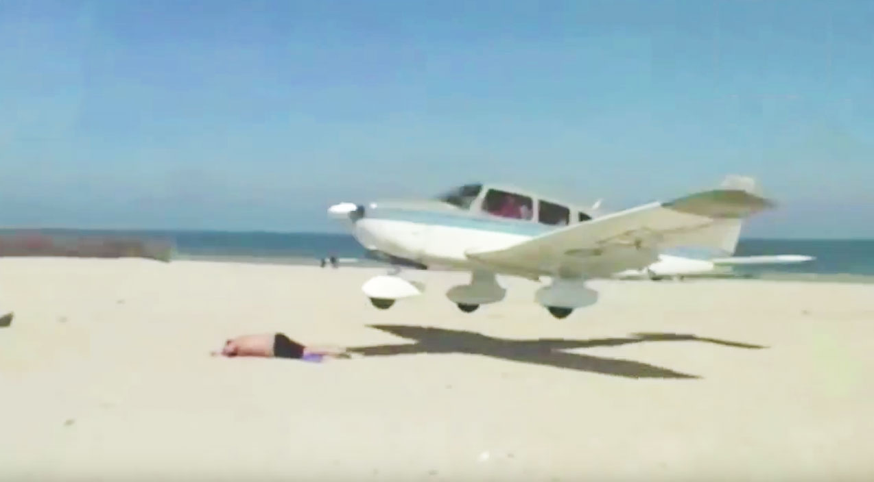Pilot Nearly Crushes Sunbather, Slams Into Fence And Barely Lands - World War Wings