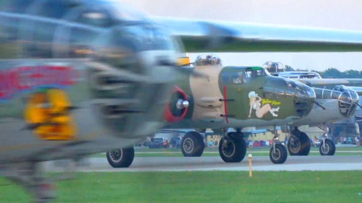 Huge B-25 Group Launches At Twilight – I've Never Seen So Many At Once! | World War Wings Videos