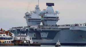 After 8 Years Of Work Britain's Gigantic Carrier Makes Public Debut