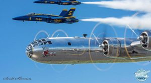 Guy Captures Footage Of B-29 Doc With The Blue Angels-Talk About A Historic Moment