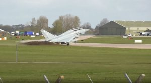 Eurofighter Typhoon Lands A Bit Short And Chews Out A Bunch Of Grass