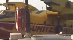 Bystander Captures Water Plane Hitting Dock Post While Scooping Water For Last Week's Fires