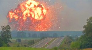 Ammunition Depot Erupts Into Gigantic Fireball – 200,000 Tons Of Explosives Up In Flames