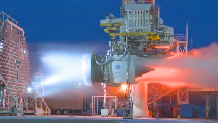 worlds biggest jet engine takes  colossal blizzard machine  full blast loud  hell
