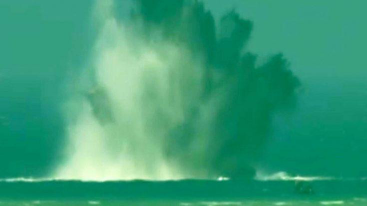 Over 100 WWII-Era Bombs Blasted In Massive Detonation Off Coast Of Okinawa | World War Wings Videos