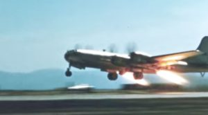 Watch A B-29 Take Off In No Time Using 4 Rockets Under Its Wings