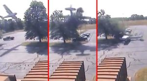 News   CCTV Catches Plane Crash Into Tree In CT But It Saved His Life