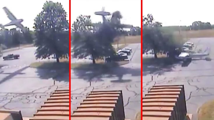 News | CCTV Catches Plane Crash Into Tree In CT But It Saved His Life | World War Wings Videos
