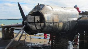 One Of A Kind Bomber Was Taken Out Of A Lake And Is Being Restored