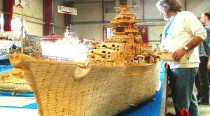 Someone Recreated The Tirpitz Battleship Using 71,000 Matches-The Details Are Stunning (Slideshow)