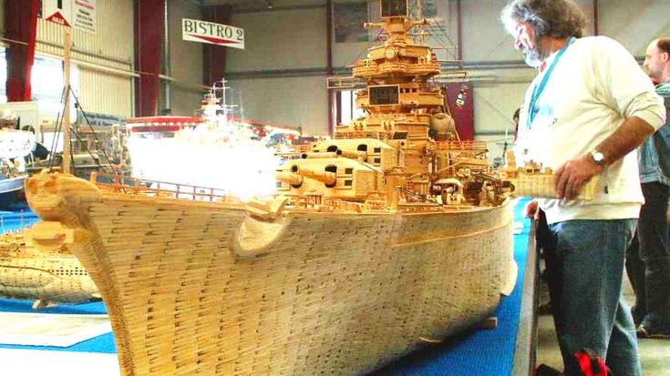 Someone Recreated A WWII Battleship Using 71,000 Matches And The Details Are Stunning | World War Wings Videos