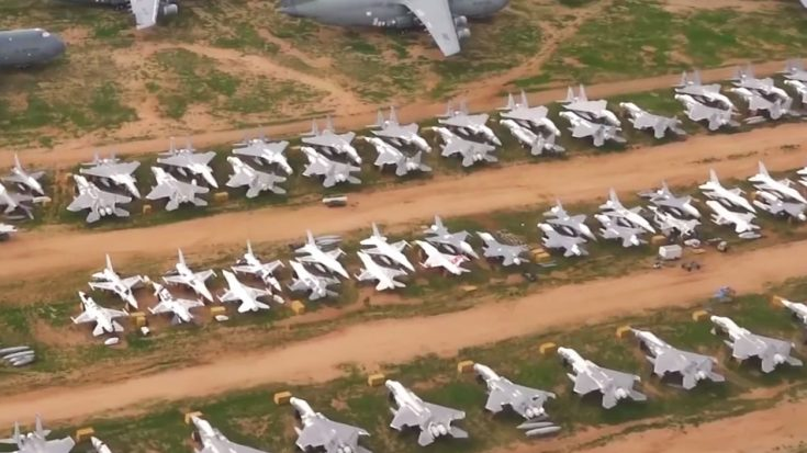 This Detailed Aerial Footage Of The Biggest Aircraft Boneyard Is Almost Unreal | World War Wings Videos