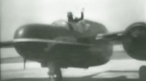 Incredibly Rare Footage Of P-61 Black Widow Pilot Testing New Ejection Seat