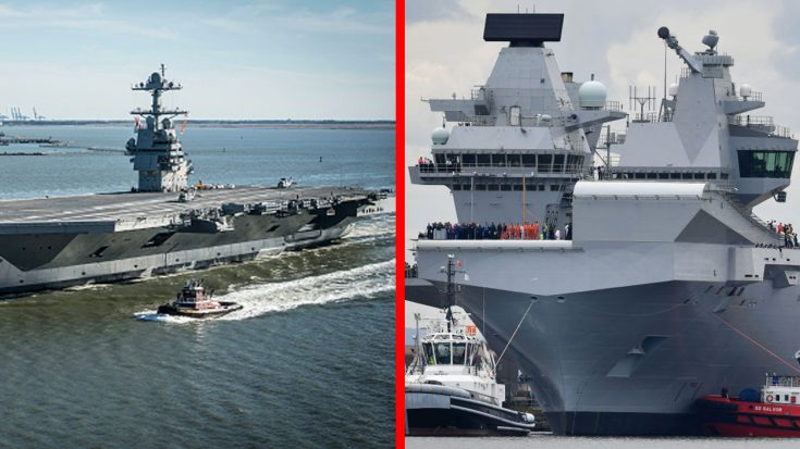USS Gerald R. Ford Vs. HMS Queen Elizabeth U2013 Time To End The Supercarrier