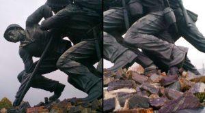 Sickening Vandals Deface Iconic WWII Memorial