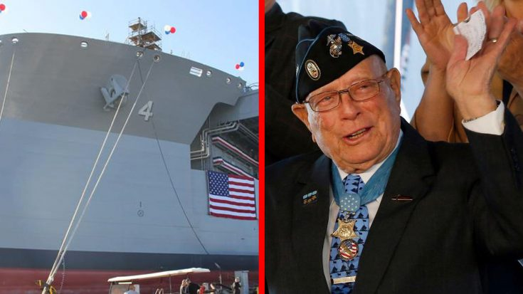 US Navy Christens Gigantic Vessel After 94-Year-Old Medal Of Recipient – A Hero Moved To Tears | World War Wings Videos
