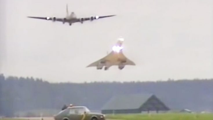 A Video Of A Once In A Lifetime Flyby Of A B-17 And A Concorde-Watch That AoA Though! | World War Wings Videos