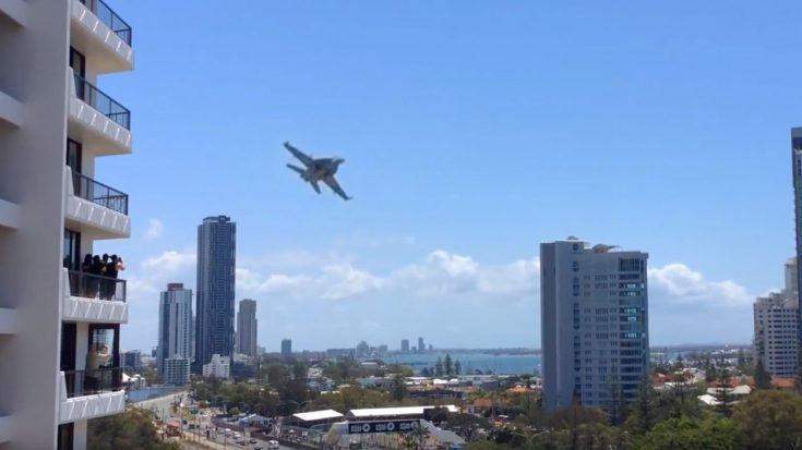 F/A-18 Cuts Between Buildings Buzzing People On Balconies-It's Just Nuts | World War Wings Videos