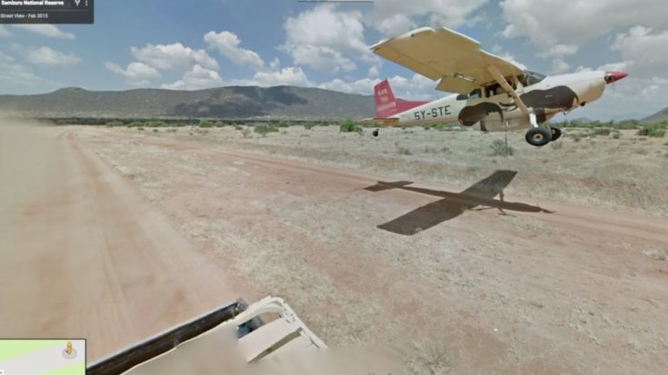 Google Maps Street View Car Captures A Plane Chasing It | World War Wings Videos