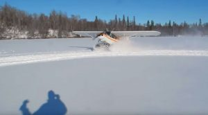 Bush Pilot Expertly Drifts A Cub On The Snow-Then Just Takes Off Like No Big Deal