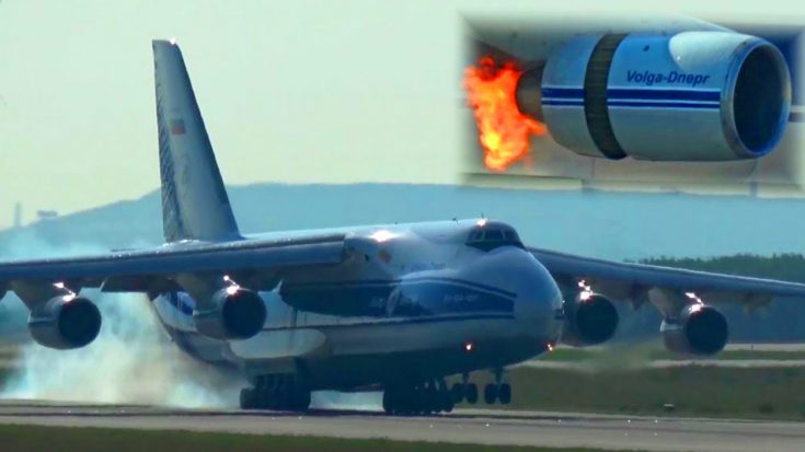 Massive An-124 Engine Bursts Into Flames After Birdstrike | World War Wings Videos