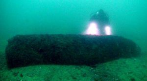 Divers Stumble Upon Gigantic Rusting WWII Bomb – But There Is More To It