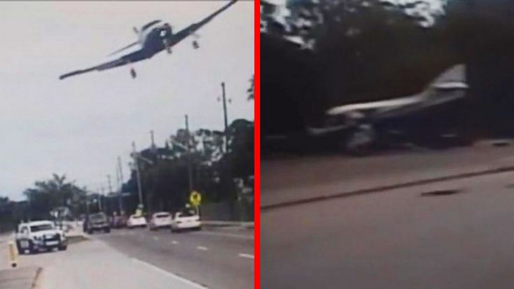 Police Camera Captures Intense Plane Crash On Florida Freeway | World War Wings Videos