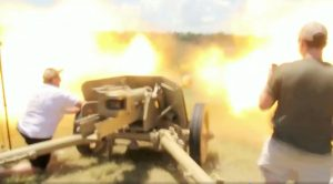 Guy Thinks He Can Hold A 75mm Gun-Gets Blown Up Bad