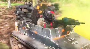 Recreating A WWI Battle Using Mini Tanks With Paintball Guns Looks Like Pure Chaos
