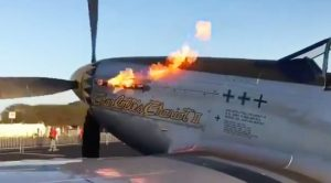 P-51 Mustang Spits Fire For A While Before Startup-Turn Up The Volume!!