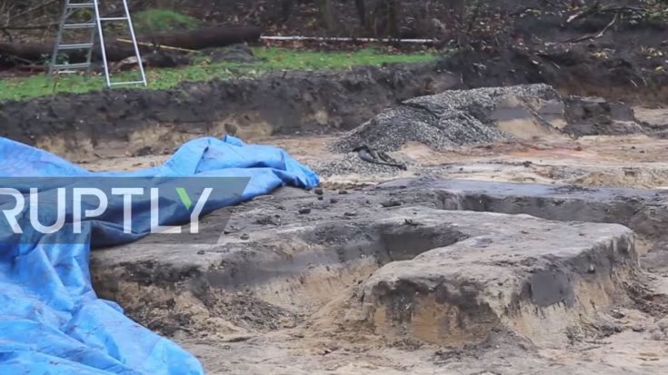 That Moment When You're Making A Soccer Field And Unearth A Massive Swastika | World War Wings Videos