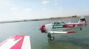 This Sideview Video Of T-6 Skidding On Water Will Make Your Palms Sweat