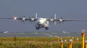 World's Biggest Turboprop Plane Pulls Insane Crosswind Takeoff