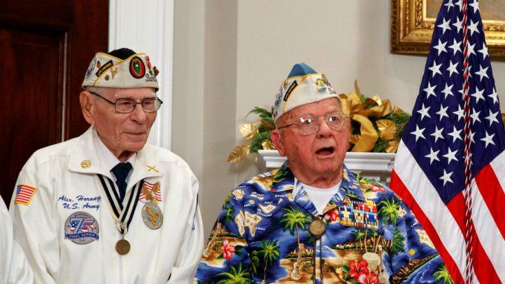 Pearl Harbor Survivor Bursts Into Song At White House Tribute – And He Was Really Good | World War Wings Videos