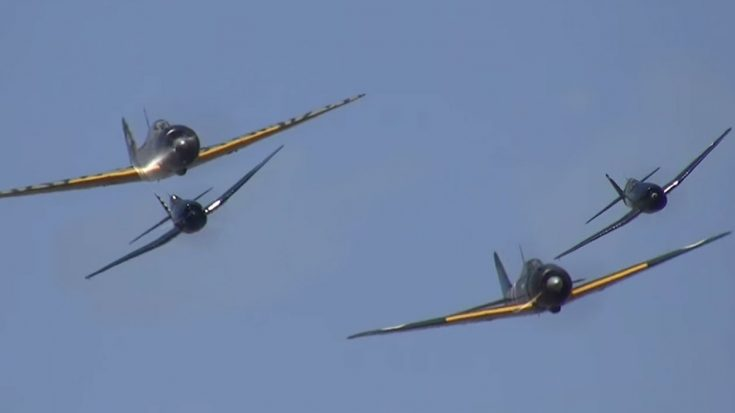 Pair Of Zeros Take On A Pair Of Hellcats | World War Wings Videos