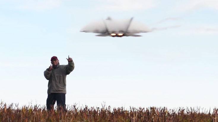 Old Man Makes Video While Braving Multiple Buzzes By F-22 Raptor-This Is Absolutely Priceless | World War Wings Videos
