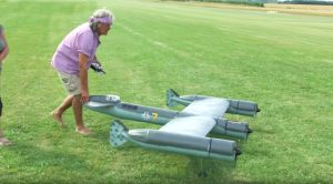 Massive RC Blohm & Voss P 170 Which Never Saw The Light Of Day-It Flies Pretty Rough