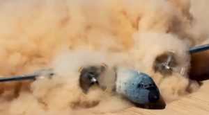 This Plane Forming A Dust-Cloud In Slow Motion Is Beyond Mesmerizing To Watch
