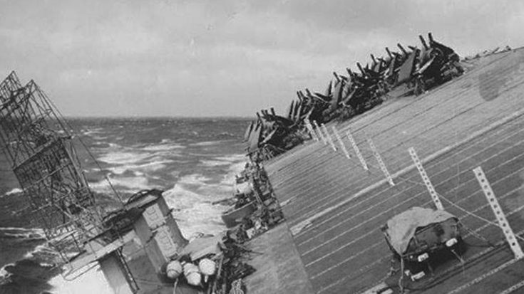 Massive Storm Nearly Crippled US Navy During WWII | World War Wings Videos