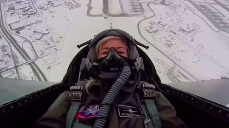 Watch Elizabeth Banks Absolutely Lose Her Mind In The F-16 Flew Over The Superbowl | World War Wings Videos