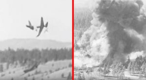 Horrible Midair Fighter Collision Causes Massive Forest Fire