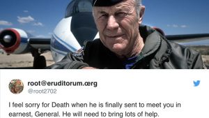 Chuck Yeager Turns 95 Today-Here're The Crazy Messages He Got On Twitter