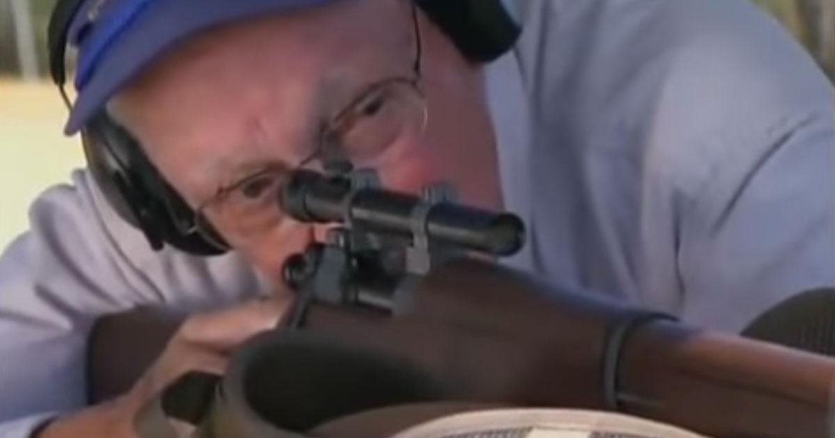86-Year-Old Veteran Sniper still has perfect Aim
