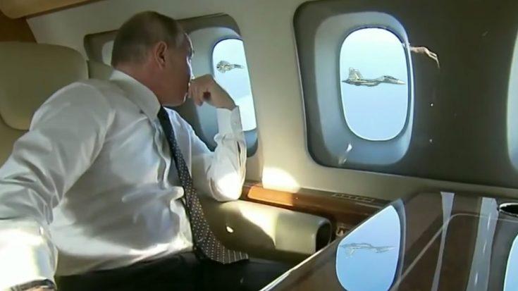 Vladimir Putin's Priceless Reaction To Fighter Escort | World War Wings Videos
