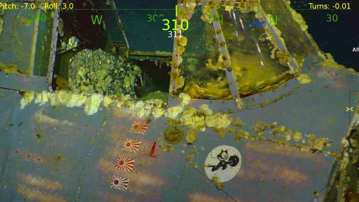 First Images Of USS Lexington's Sunken Fighters – Lost For 76 Years | World War Wings Videos