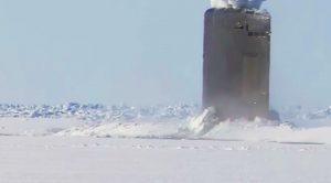 Watch How Easily A Nuclear Sub Can Break Through Thick Ice