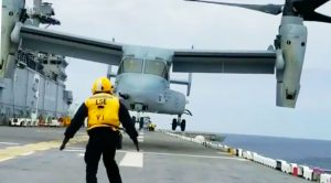 Here's How Incredibly Squirrelly V-22s Get 20 Feet Above Water-Buckle Up